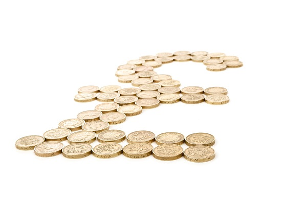 a pound sign made out of pound coins, a blog about good debt vs bad debt