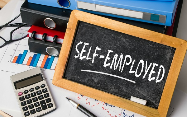 self-employed handwritten on blackboard - a blog post about the Self Employment Income Support Scheme