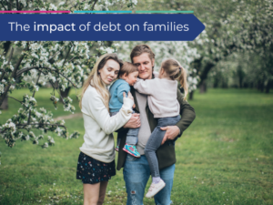 Family struggling with the impact of debt