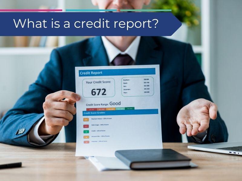Man holding good credit report